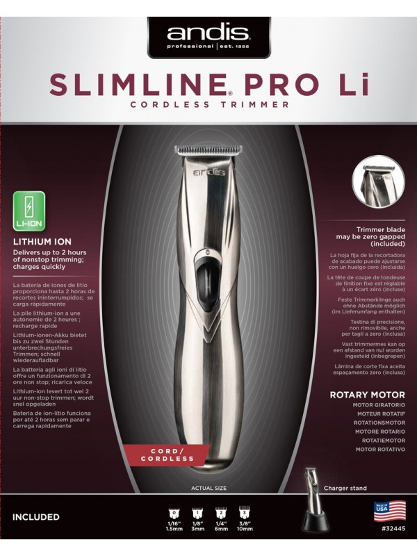 ANDIS SLIMLINE PRO Li cordless trimmer, SILVER