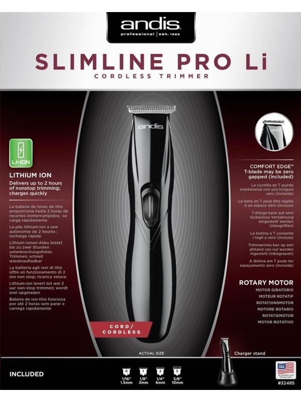 ANDIS SLIMLINE PRO LI, black trimmer