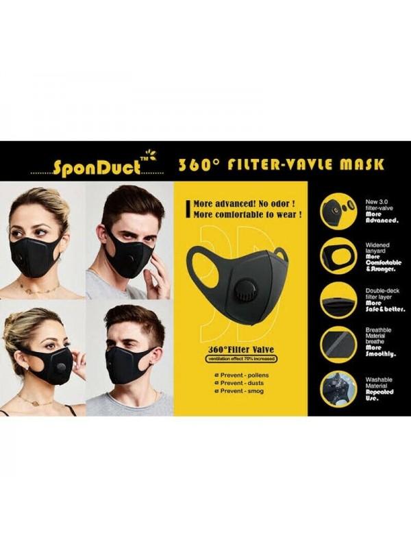 Sponduct 3D filter-valve mask, 1 pcs