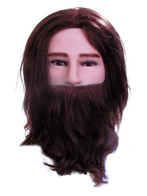 Male mannequin training head with beard.