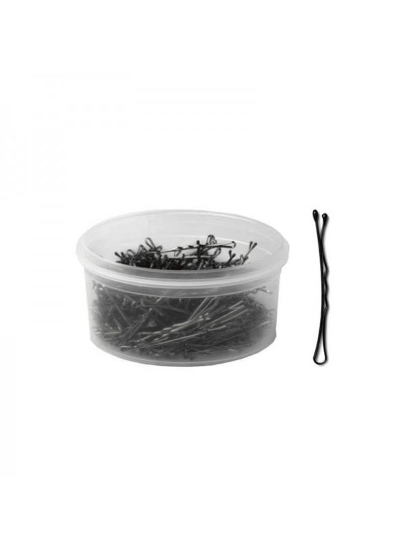 Professional hairgrips, 51 mm, 330 pcs, Black