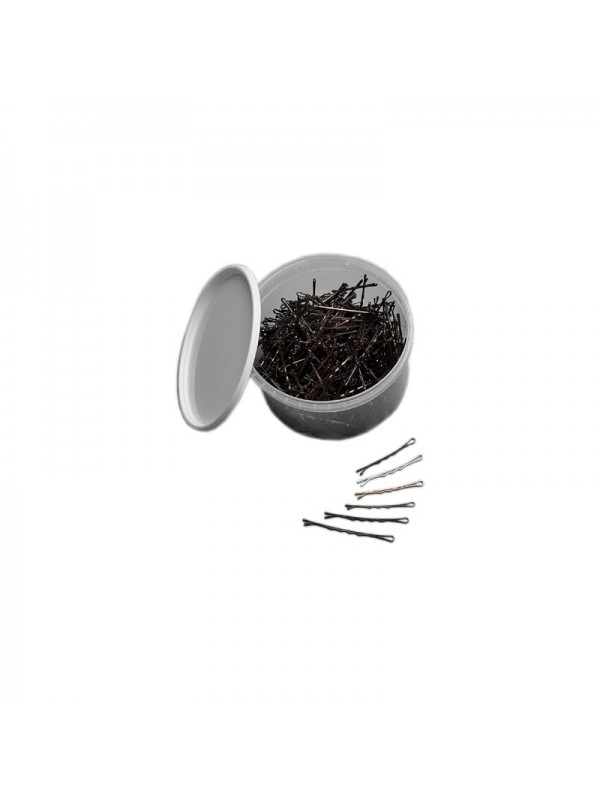 Professional hairgrips, 59 mm, 300 pcs, Brown