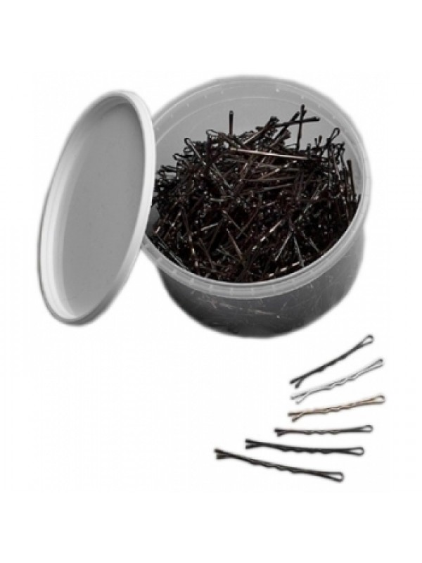 Professional hairgrips, 51 mm, 330 pcs , Brown