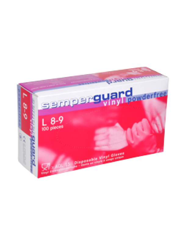 Semperguard Vinyl gloves , 100pcs